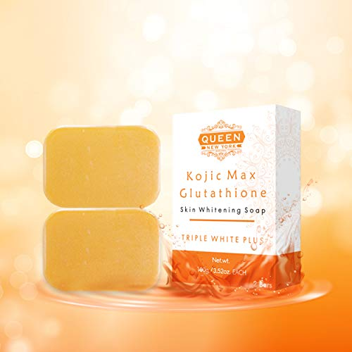QUEEN NATURAL NEW YORK | Kojic Max Natural Skin Renewal Whipp Soap (2 Bars, Kojic+Gluta+Mesh)