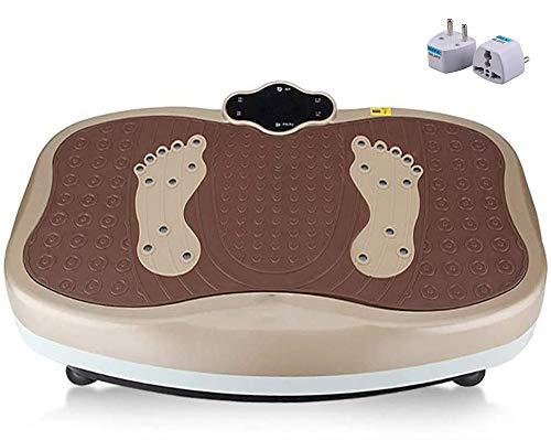 DPLQX Vibrationsplatte Fitness, Fitnessstation mit Fernbedienung/Magneten Massage/Shiatsu Massage/Anti-Rutsch-Pedal, Fitnesstraining von Zuhause,A