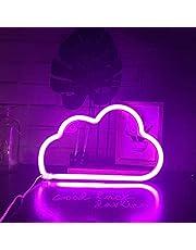Nordstylee Led neon ljusskylt måne moln stjärna belysning skylt nattljus väggdekor heminredning lampa för barnrum, sovrum, födelsedag, bröllopsfest gåva (molnrosa)