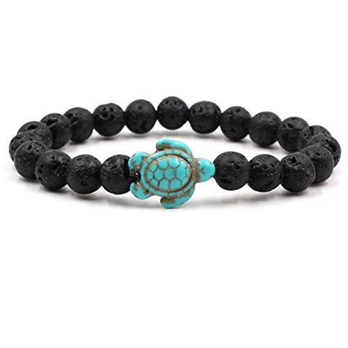 HNCE Bracelet de perles Turquoise Turtle Bracelet Bijoux de plage pour les femmes Yoga Bracelet d'amitié pour les femmes et les filles