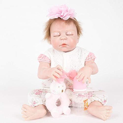 Hongge Volle Silikon Vinyl Reborn Babypuppe realistische mädchen Babys Puppen lebensecht Prinzessin Kids Toy Kinder Geburtstagsgeschenk 5cm