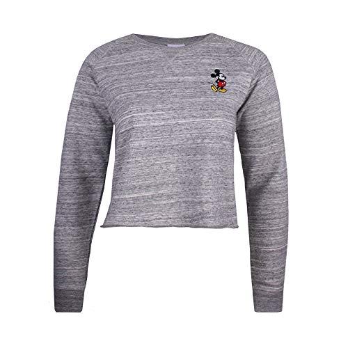 Disney damska bluza z haftem z myszką Miki z lewej klatki piersiowej