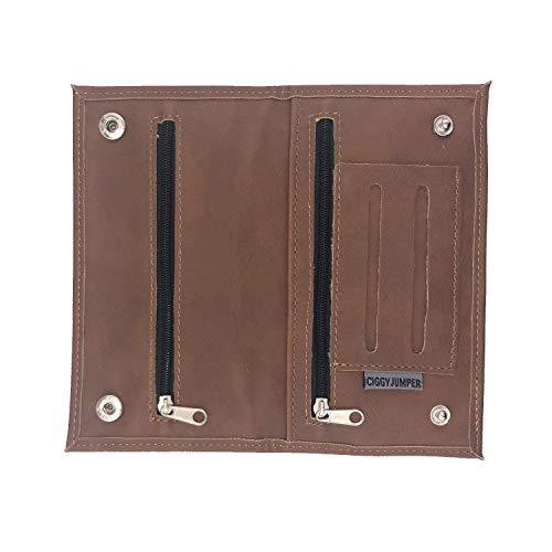 Ciggy Jumper® Portatabacco Borsello realizzata in similpelle premium con effetto pelle vintage,...
