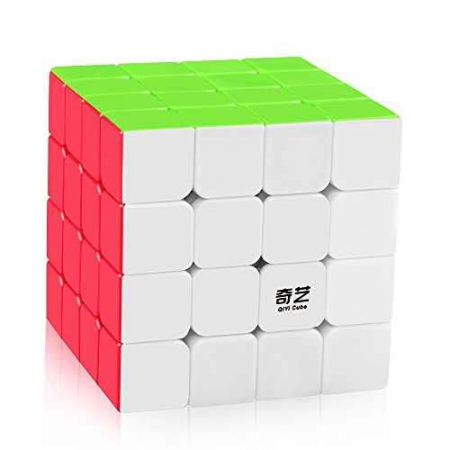 D-FantiX Qiyi Qiyuan S 4x4 Speed Cube Stickerless Magic Cube 4x4x4 Puzzle Toys