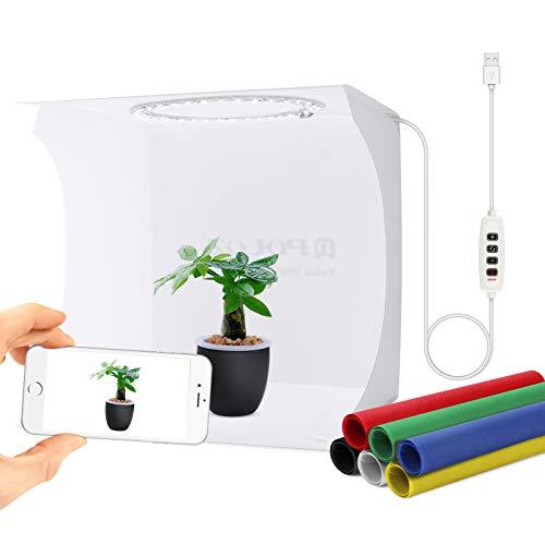 Gobesty Foto Studio Zelt, Tragbare Faltbare Photo Studio Lichtzelt, Mini Fotostudio Schießzelt, Shooting Zelt Box Kit mit 6-farbigen Hintergründen