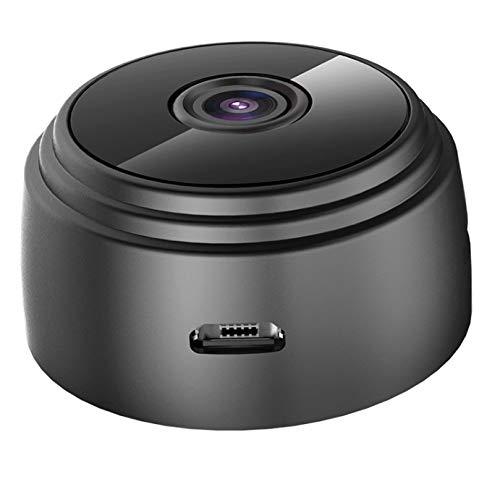 Mini cámara FHD 1080P cámara de vigilancia exterior WiFi WiFi pequeño portátil inalámbrico de seguridad para el hogar con visión nocturna, detección de movimiento, visión remota.
