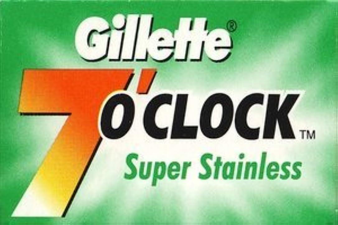収穫子音櫛Gillette 7 0'Clock Super Stainless 両刃替刃 5枚入り(5枚入り1 個セット)【並行輸入品】