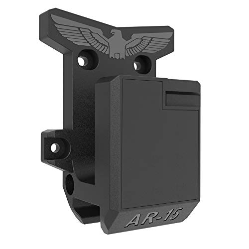 Aoanoko AR-15 Wall Mount, Solid&Unbreakable Construction Withstand 300Lbs of Tension, PA Wall Mount and Display, Rifle Display, Gun Safe Wall Rack, Extra Improved Slot for Pmag