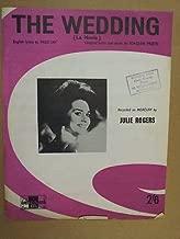 song sheet THE WEDDING Julie Rogers 1961