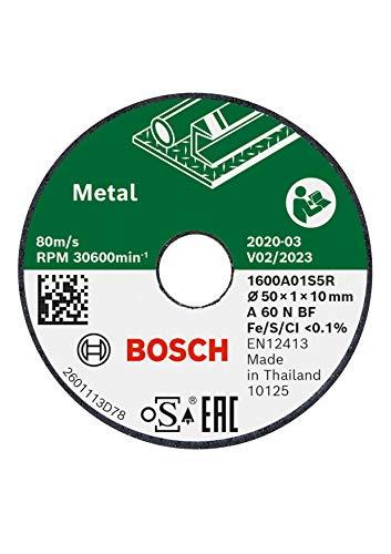 Bosch 3 Stück Trennscheibe (für Metall, Ø 50 mm, Zubehör Bosch EasyCut&Grind)