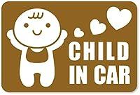 imoninn CHILD in car ステッカー 【マグネットタイプ】 No.10 赤ちゃん (ゴールドメタリック)