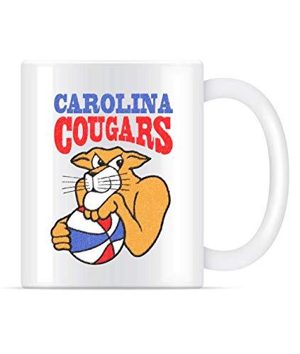 N\A Taza de café Retro de Baloncesto Vintage AB de Carolina Cougars paraTazas de té para Mujeres y Hombres