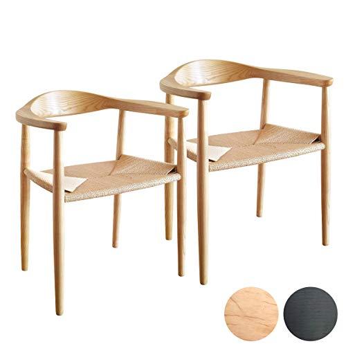 2脚セット ウェグナー ザチェア The Chair(ザ・チェア) ペーパーコード チェア デザイナーズ リプロダクト ダイニングチェア 木製 無垢 北欧 ナチュラル