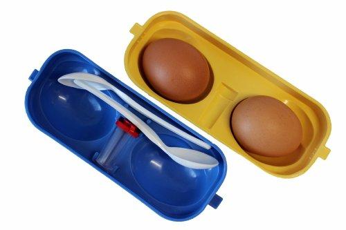 Eierbehälter 2-fach mit Salzstreuer + 2 Löffel