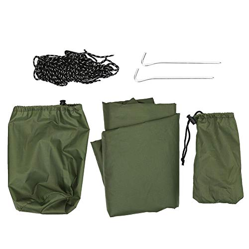 Sun-Proof Awning, Waterproof Patio Awning, Rhombic Outdoor Sunshade Hammock Awning, for Camping Hiking(ArmyGreen)
