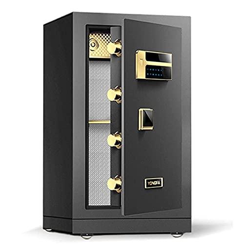 Cassette di sicurezza Cassaforte di sicurezza Password di impronte digitali Cassaforte antifurto Armadio a porta singola da parete per ufficio intelligente interamente in acciaio grande (Color : Grey,