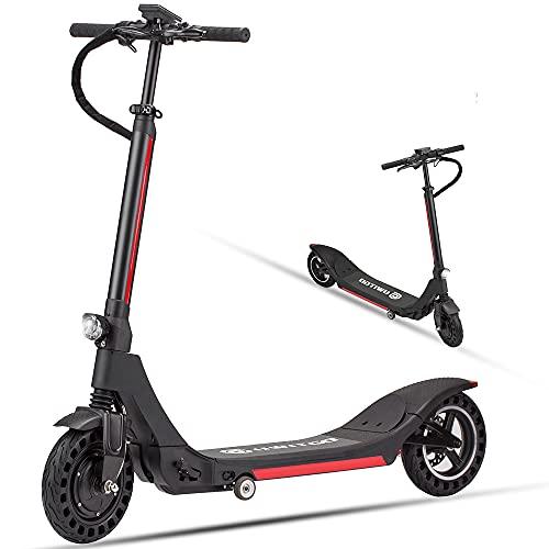 Scooter eléctrico plegable para adultos con batería de 15,6 Ah, motor de scooter de 350 W, pantalla LCD multifunción y sistema de doble freno, alcance 60 km, neumáticos de 10 pulgadas