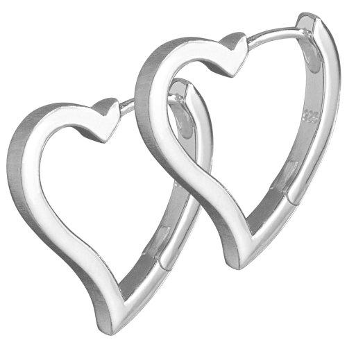VINANI Klapp-Creolen Angel Heart Silber 925 CAH