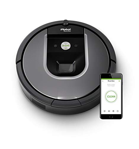 iRobot Roomba Volks-Saugroboter 960 mit starker Saugkraft, zwei Multibodenbürsten, Navigation für...