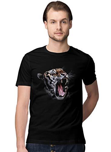 BLAK TEE Hombre Roaring Tiger in High Detail Camiseta XL