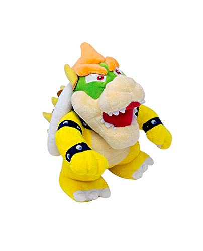Altay Best Super Mario Yellow Bowser King Koopa Small Size Stuffed Plush Toy with Altay Travel Bag (Yellow Small Edition)