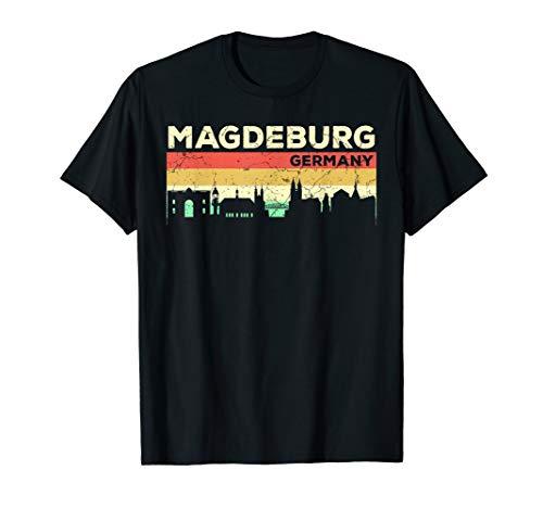 Mein Magdeburg Skyline Deutschland Heimat Stadt Souvenir T-Shirt
