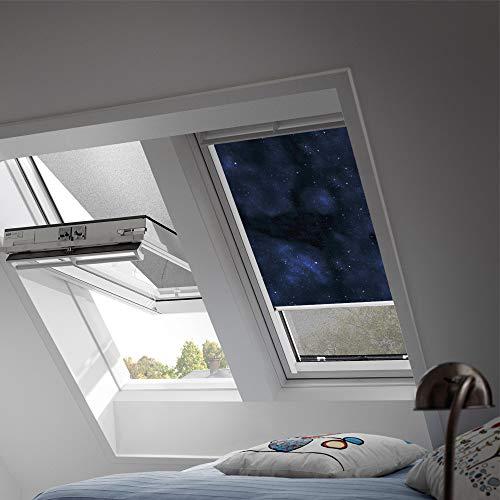 VELUX Original Verdunkelungsrollo für Dachfenster mit weißen Seitenschienen, P06, 406*, Universum/DKL P06 4653SWL