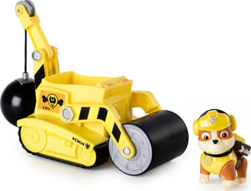Paw Patrol – Rubble's Steam Roller Construction Vehicle with Rubble Figure