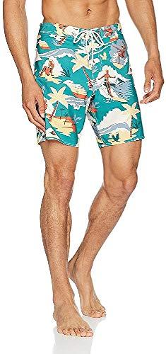 O'NEILL Pantalón de Surf para Hombre SoCal, Hombre, SoCal Boardshorts, Grün AOP, 34