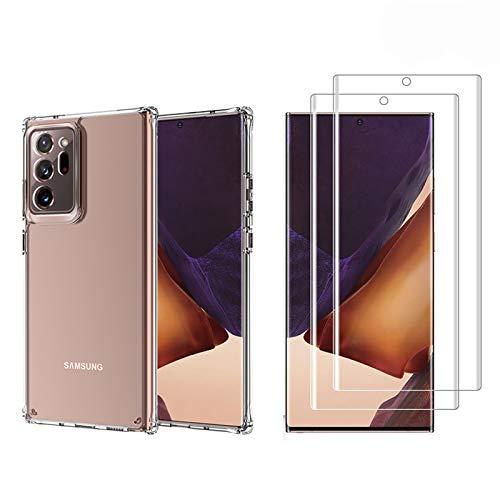 BOWFU Cover Compatibile Xiaomi Mi 10T PRO, [2 Pack Pellicola Protettiva] Custodia in Cristallo Trasparente Ultra Sottile, Custodia con Assorbimento degli Urti e Anti-Graffio, Chiaro