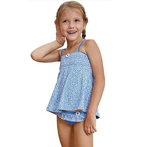 HO-TBO Meisjes Twee Stuk Badpakken, Kleine Meisjes Badkleding Twee Stukken Bikini Set Briefs Badpakken Blauw Gemakkelijk schoon te maken