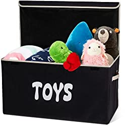 declutter toys with a foldable toy box