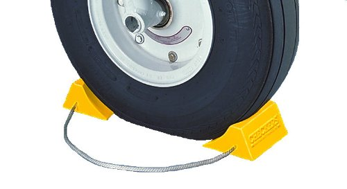 Tigerchocks AC201 Urethane Lightweight Commercial Aviation Wheel Chock, Yellow, 5.5' Length x 4.5' Width x 2.75' Height