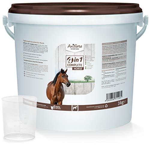 AniForte 4in1 Complete 3kg - Natürliche Rundumversorgung für Pferde mit Bierhefe BT, Hagebutte, Kieselgur, Topinambur, reich an Präbiotika, Vitamine, Mineral- und Vitalstoffe