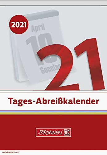 BRUNNEN 1070313001 Tages-Abreißkalender Nr. 13, 1 Seite = 1 Tag, 98 x 142 mm, Kalendarium 2021