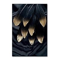 アートパネル羽毛ポスター防湿キャンバスアート室内装飾絵画アートフレームパネルアートトラベルパビリオンホームユースリビングルームダイニングルームエントランスフレームレスフレームレス40x50cm