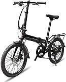 Bicicleta plegable para adultos mujeres y hombres, retractor, guardabarros delantero y trasero, de aluminio, ruedas de 20 pulgadas, freno de disco dual ligero