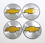 Armertek OCV88 4X Chevy Silverado Avalanche Suburban 1500 2500 Wheel Center Hub Caps Rim Alloy Dust Stickers Logo (Only Emblems) (Silver)