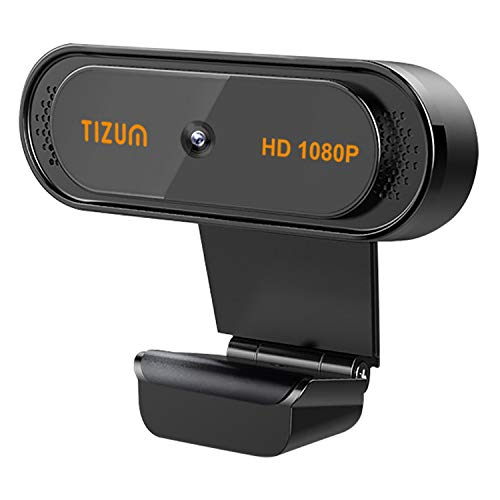 Tizum ZW78 Full HD 1080p Webcam Web Camera for PC, Mac, Laptop, MacBook; Wide Angle, ALC, Noise-Reducing Mic, Video Calling/Conferencing; for Online Teaching, Gaming, Skype, Xbox.