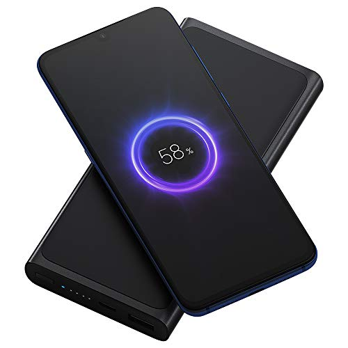 Original Xiaomi 10000mAh Qi Wireless Charger Power Bank Support 10W Wireless Fast Charging Portable Can be on Board (Black)
