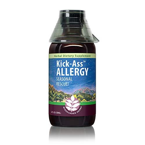 WishGarden Herbs - Kick-Ass Allergy, Organic Herbal Allergy Supplement, Supports Immune Response to Seasonal Allergies (4 oz Jigger)