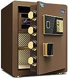 LHSUNTA Electronic Deluxe Digital Security Caja de Seguridad Bloqueo de Teclado Oficina en casa Hotel Business Joyas Almacenamiento de Dinero en Efectivo Cajas Fuertes de Pared (Color: Neg