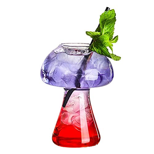 Z-Y Wijnglazen rood Mushroom Glas van de cocktail Moleculaire Gastronomie Bar Rectification Barman Speciaal Bier wijnglazen Goblet Cooler Cup #Z (Color : Clear)