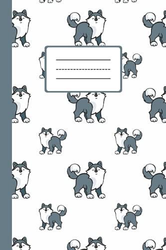 Süßes Husky Geburtstags Notizbuch: Kariertes Notizheft als Tagebuch oder Journal verwendbar   Für Schule Arbeit Uni   Für Hunde Besitzer