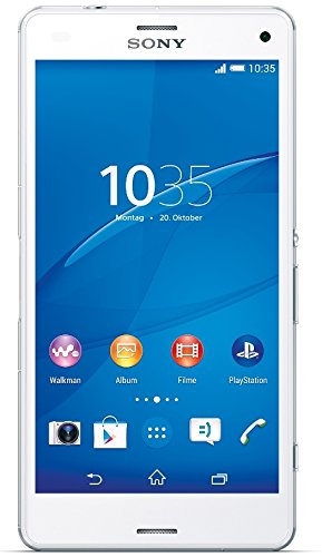 Sony Xperia Z3 Compact Smartphone, Display 4,6 Pollici, HD-TRILUMINOS-Display, 2,5 GHz-Quad-Core-Processore, 20,7 MP Fotocamera, Android 4.4, Bianco [Germania]