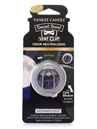 Yankee Candle 1304390E Car Freshener, Smart Scent Vent Clip, Midsummers Night