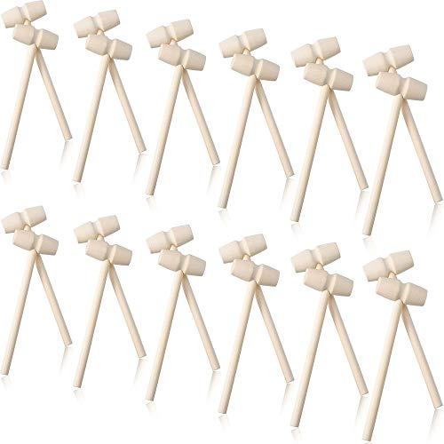 Mazos de Cangrejo de Madera Mini Martillo de Madera de Mariscos Accesorios para Galletas Saladas para Herramienta de Langosta de Mariscos Fabricación de Joyas Artesanales Artesanía en Cuero (24)
