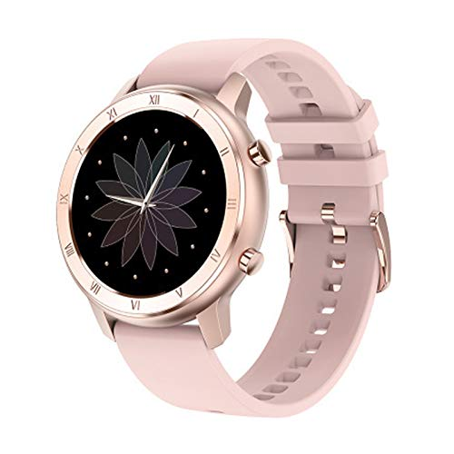 LZXMXR Reloj inteligente, hombres y mujeres IP68 impermeable 1.25 pulgadas reloj inteligente pulsera de reloj inteligente de monitoreo del sueño (color: polvo de goma)