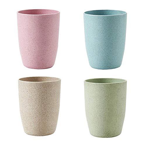 happygirr - Juego de 4 Vasos para cepillos de Dientes (11 cm, con Abertura Ancha)