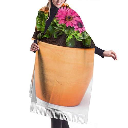 Bufanda de invierno unisex, coloridas flores de margarita del cabo Maceta de...